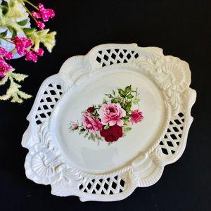 12inch Vintage Formalities Baum Bros Plate Roses